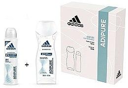 Parfums et Produits cosmétiques Adidas Adipure Woman - Set (déodorant spray/150ml + gel douche/250ml)