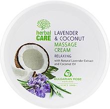 Parfums et Produits cosmétiques Crème de massage relaxant à l'extrait de lavande et huile de coco - Bulgarian Rose Herbal Care Lavender & Cococnut Massage Cream