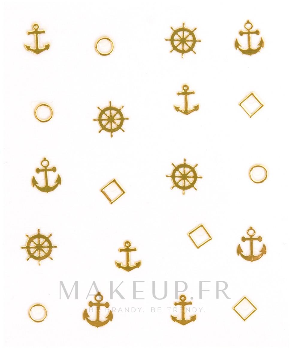 Autocollants décoratifs pour ongles, 1 pcs - Peggy Sage Decorative Metallic Nail Stickers — Photo Marine