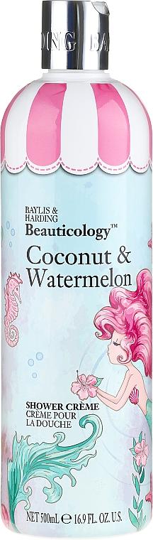 Crème de douche Noix de coco et Pastèque - Baylis & Harding Beauticology Mermaid Shower Cream