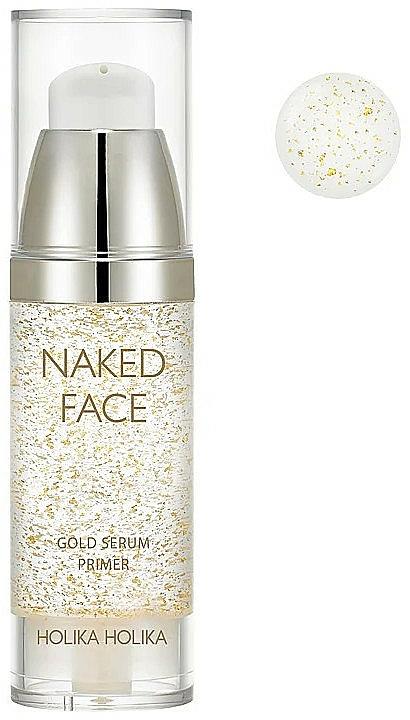 Base-sérum pour fond de teint à l'extrait d'or - Holika Holika Naked Face Gold Serum Primer