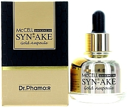 Parfums et Produits cosmétiques Sérum peptidique à l'or pour visage - Dr. Pharmor McCell Skin Science 365 Syn-ake Gold Ampoule