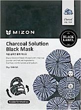Parfums et Produits cosmétiques Masque tissu au charbon pour visage - Mizon Charcoal Solution Black Mask