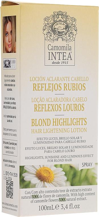 Lotion éclaircissante en spray à l'extrait de camomille pour cheveux - Intea Blonde Highlights Hair Lightening Spray With Camomile Extract — Photo N2