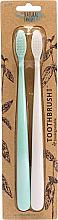 Parfums et Produits cosmétiques The Natural Family Co Bio Brush Rivermint & Ivory Desert - Lot de 2 brosses à dents biodégradables