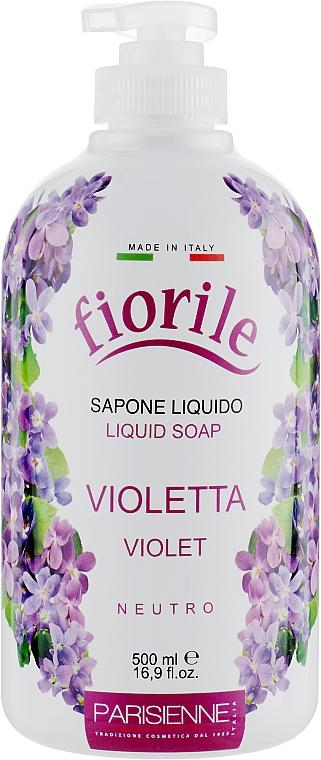 Savon liquide pour mains et corps, Violette - Parisienne Italia Fiorile Violet Liquid Soap