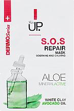 Parfums et Produits cosmétiques Masque à l'argile blanche et huile d'avocat pour visage - Verona Laboratories DermoSerier Skin Up S.O.S Repair Soothing and Calming Face Mask