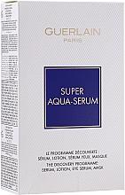 Parfums et Produits cosmétiques Guerlain Super Aqua Serum Set - Coffret (sérum/50ml + sérum contour des yeux/5ml + masque/1pcs + lotion/15ml)