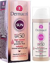 Parfums et Produits cosmétiques Fluide teinté au D-panthénol et vitamine E waterproof pour visage - Dermacol Sun WR Tinted Sun Protection Fluid SPF50