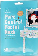 Parfums et Produits cosmétiques Masque tissu à l'extrait de papaye pour visage et cou - Cettua Pore Control Facial Mask
