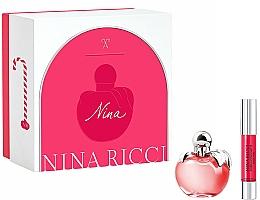 Parfums et Produits cosmétiques Nina Ricci Nina - Coffret (eau de toilette/50ml + rouge à lèvres/2.5g)