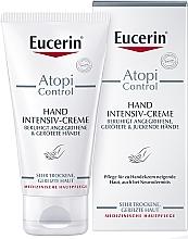 Parfums et Produits cosmétiques Crème à l'extrait d'avoine et réglisse pour mains - Eucerin AtopiControl Intensiv Hand Creme