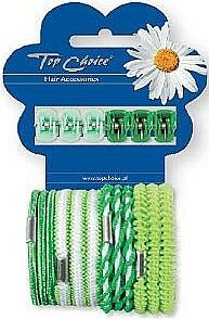Set pinces et élastiques à cheveux, 28144 , 6+12pcs - Top Choice