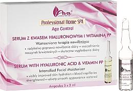 Parfums et Produits cosmétiques Sérum en empoules à l'acide hyaluronique et à la vitamine PP pour visage - Ava Laboratorium Home SPA With Hyaluronic Acid & Vitamin PP Serum
