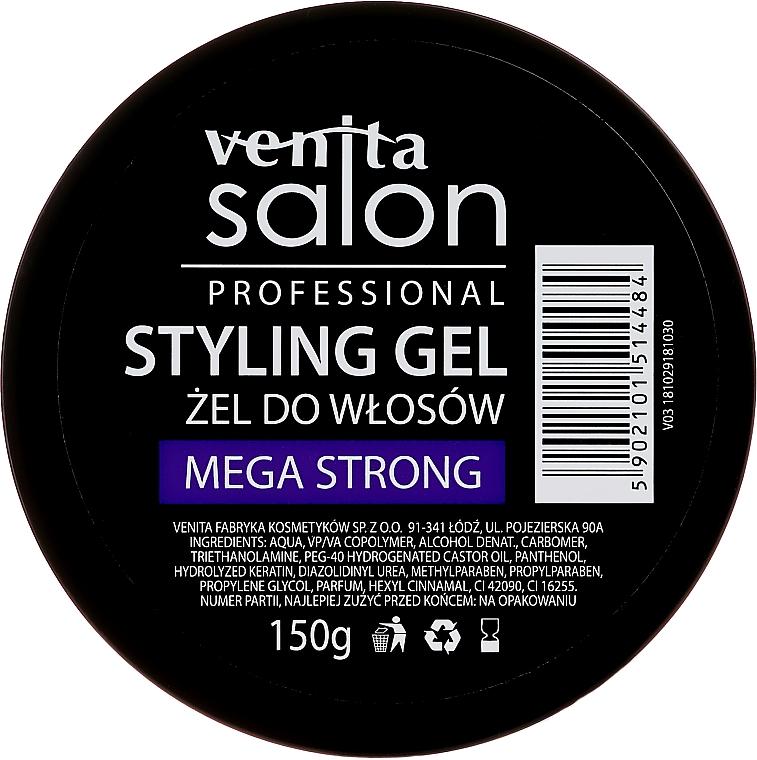 Gel coiffant à la kératine - Venita Salon Professional Styling Mega Strong