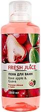 Parfums et Produits cosmétiques Mousse de bain à la pomme rose et goyave - Fresh Juice Rose Apple and Guava