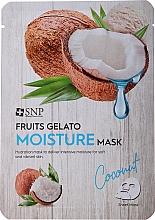 Parfums et Produits cosmétiques Masque tissu à l'extrait de noix de coco pour visage - SNP Fruits Gelato Moisture Mask Coconut