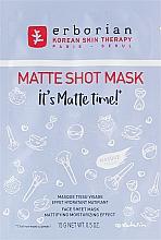 Parfums et Produits cosmétiques Masque tissu à l'extrait de fleur de nénuphar blanc pour visage - Erborian Matte Shot Mask