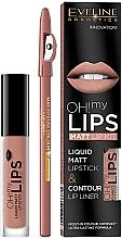 Parfums et Produits cosmétiques Set(rouge à lèvres/4.5/g + crayon à lèvres /1/g) - Eveline Cosmetics Oh! My Lips