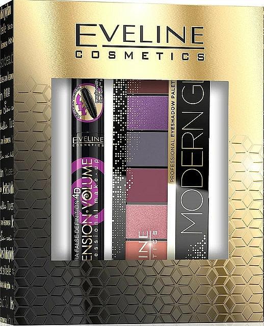 Set (mascara/10ml + palette à fard à paupières/9.6g) - Eveline Cosmetics