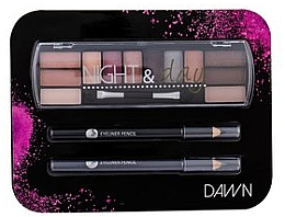 Parfums et Produits cosmétiques Coffret cadeau - Cosmetic 2K Night & Day Dawn (eye/sh/8,16g + eye/pen/2x0,6g)
