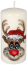 Parfums et Produits cosmétiques Bougie décorative Rudolphe, blanc, 7x10cm - Artman Christmas Candle Rudolf