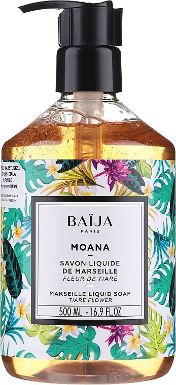 Savon liquide de Marseille Fleur de tiaré - Baija Moana Marseille Liquid Soap — Photo N1