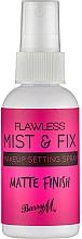 Parfums et Produits cosmétiques Spray matifiant fixateur de maquillage - Barry M Flawless Mist & Fix Make-Up Setting Spray Matte