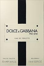 Parfums et Produits cosmétiques Dolce&Gabbana The One - Coffret (eau de toilette/50ml + eau de toilette/7.4ml)