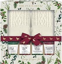 Parfums et Produits cosmétiques Coffret cadeau - Baylis & Harding The Fuzzy Duck Winter Wonderland Luxury Slipper Set (f/cr/100g + soap/100g + f/lot/50ml + sh/gel/50ml + slippers/2psc)