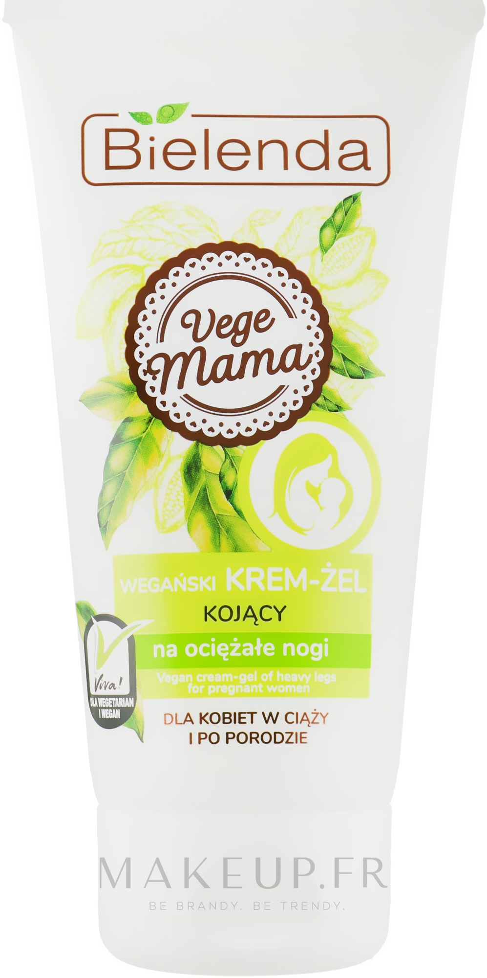 Crème-gel aux vitamines pour pieds - Bielenda Vege Mama Cream Foot Gel — Photo 125 ml