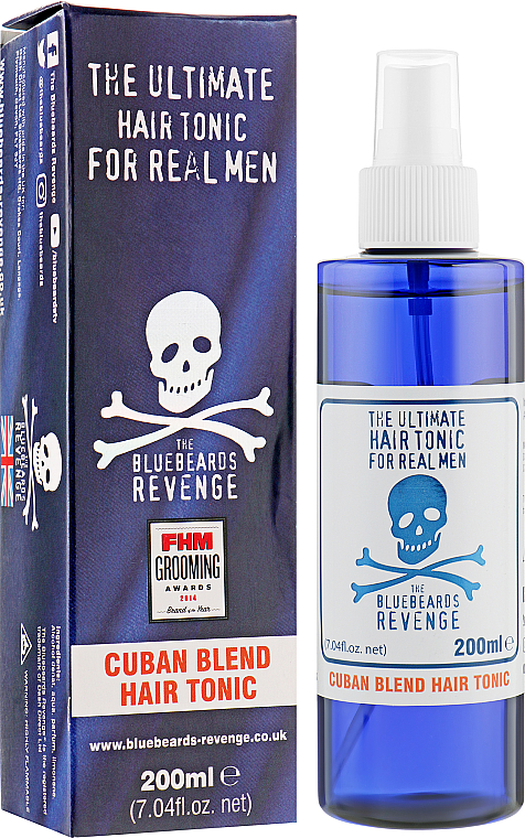 Tonique coiffant, fixation légère - The Bluebeards Revenge Cuban Blend Hair Tonic — Photo N1