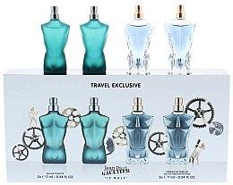 Parfums et Produits cosmétiques Jean Paul Gaultier Le Male - Coffret (eau de toilette/7ml + eau de toilette/7ml + eau de parfum/7ml + eau de parfum/7ml)