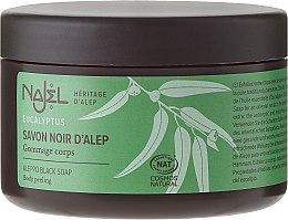 Parfums et Produits cosmétiques Gommage corporel à l'eucalyptus - Najel Black Aleppo Soap Eucalyptus Body Peeling