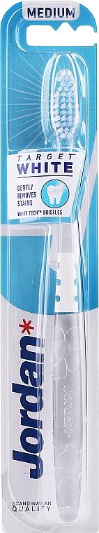 Brosse à dents, souple, blanc et transparent - Jordan Target White — Photo N2