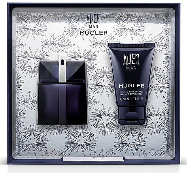 Thierry Mugler Alien Man Gift Set - Coffret cadeau (eau de toilette/50ml + shampooing cheveux et corps/50ml)