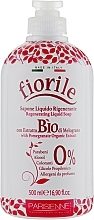 Parfums et Produits cosmétiques Savon liquide à la grenade bio - Parisienne Italia Fiorile Pomergranate Liquid Soap