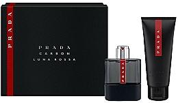 Parfums et Produits cosmétiques Prada Luna Rossa Carbon - Coffret (eau de toilette/50ml + gel douche/100ml)