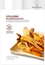 Parfums et Produits cosmétiques Masque tissu à l'extrait de ginseng pour visage - Beauugreen Vitalizing Red Ginseng Essence