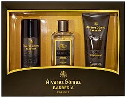 Parfums et Produits cosmétiques Alvarez Gomez Agua De Colonia Concentrada Barberia - Set (eau de Cologne/150ml + déodorant spray/150ml + gel douche/230ml)