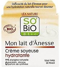 Parfums et Produits cosmétiques Crème au lait d'ânesse pour visage - So'Bio Etic Mon Lait d'Anesse Silky Moisturizing Cream