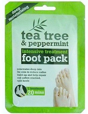 Chaussettes de soin à l'arbre à thé et menthe pour les pieds - Xpel Marketing Ltd Tea Tree & Peppermint Deep Moisturising Foot Pack