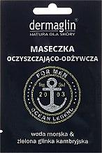 Parfums et Produits cosmétiques Masque à l'eau de mer et argile bleue cambrienne pour visage - Dermaglin For Men Ocean Legend