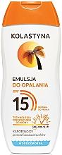 Parfums et Produits cosmétiques Émulsion solaire résustante à l'eau SPF 15 - Kolastyna Emulsion SPF 15
