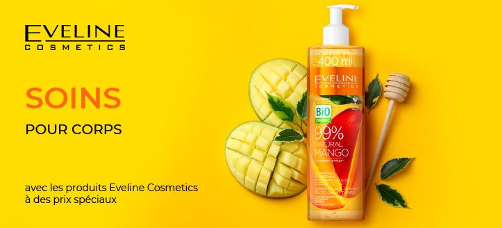 -5% de remise sur les produits promotionnels Eveline Cosmetics. Le prix indiqué est après la remise annoncée