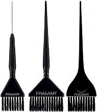 Parfums et Produits cosmétiques Set de pinceaux de coloration cheveux, noir - Framar 3 Piece Color Brush Set