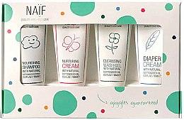 Parfums et Produits cosmétiques Naif Baby Kit - Set (shampooing/15ml + crème/15ml + crème pour le change/15ml + gel douche/15ml)