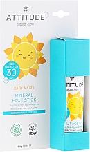 Parfums et Produits cosmétiques Stick solaire à l'huile de noix de coco pour visage - Attitude Mineral Face Stick SPF 30