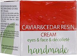 Parfums et Produits cosmétiques Crème à l'extrait de caviar et résine de cèdre pour visage et décolleté - Hristina Cosmetics Handmade Caviar & Cedar Resin Cream