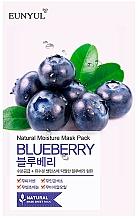 Parfums et Produits cosmétiques Masque tissu à l'extrait de myrtille pour visage - Eunyul Natural Moisture Blueberry Mask